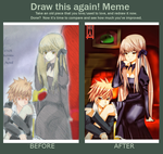My Queen Before-After Meme by Seitokain