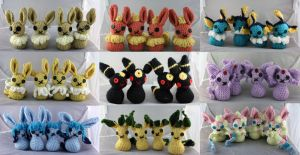 Crochet Eeveelutions by Luherc