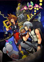 Kingdom Hearts 3D promo pic by Scorpius02