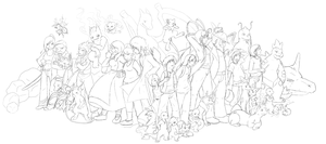 Too Many Characters Mk 2 by kyrio