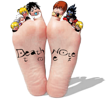 Death Note Toes by kaleidoscopeEYE