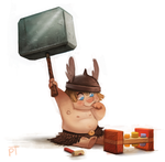 DAY 486. Sketch Dailies Challenge - Thor by Cryptid-Creations