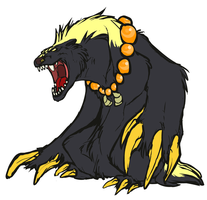 Honey Badger Kin by Color-City