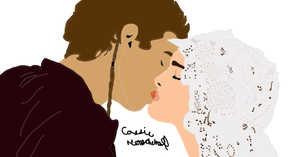 Anakin and Padme by leapylion3