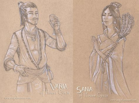 Varia and Sana of House Cynis by AngelaSasser