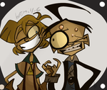 Norm and Dib by Freakly-Show