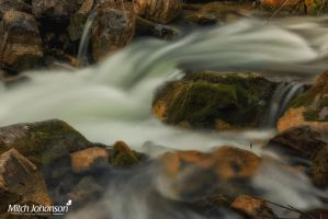 White Water and Mossy Rocks by mjohanson