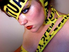 Lady Gaga Caution Tape 3 by TimeLordmk