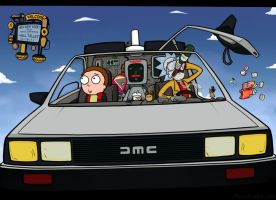 Rick and Morty / Back to the Future by Piro-Man