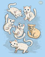 Cute Kittens - SHIRT AVAILABLE ON TEEPUBLIC! by Ellygeh