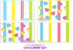 HatakeSage's Free Easter Set (Icons,cursors,tiles) by Hatty-hime