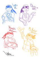TMNT Sketch by StarFox-Saiyan
