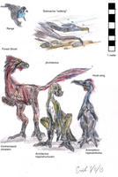 North American River Dinosaurs by Velociraptor-King