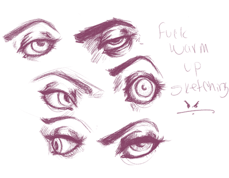 Eyeball sketches by DrVonFunkMachine