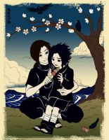 Uchiha Brothers: Smile by claudiakat