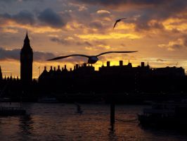 Flying over London by etoileincomprise