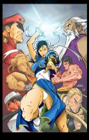 Street Fighter colors after Lee and Copo by ISeeInVectors