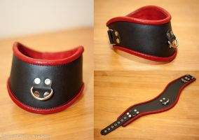black and red collar by leatherforfun