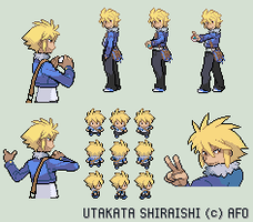 PokemonOC - Utakata Sprite Set by afo2006