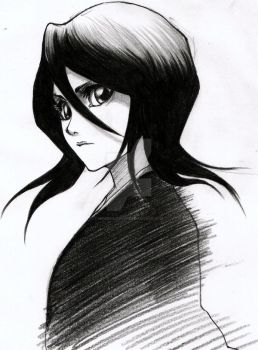Rukia sketch by Marghe-chan