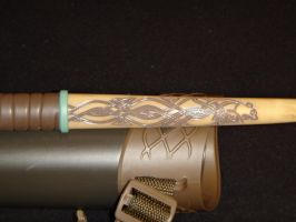 First Bow Design Limb carving 2 by dracon666