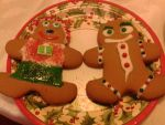 Gingerbread Couple by BluebottleFlyer