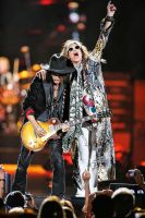 Aerosmith:  Joe Perry and Steven Tyler I by basseca