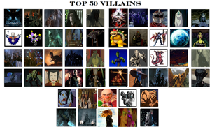 CGD64 Top 50 Villains by CrazyGamerDragon64
