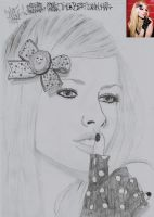 Avril Lavigne drawing 23 by moesa23