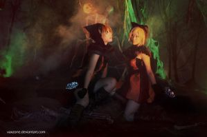 Kagamine Twin - Spooky World by vaxzone