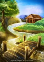 Speed painting landscape by chuaenghan