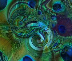 Peacock fractal by Broni58