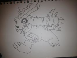 Digimon - Gabumon Drawing by Megalomaniacaly