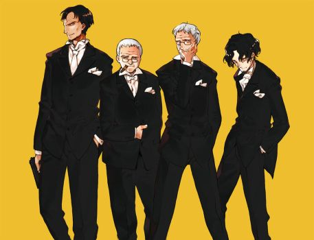 4 men of black by oyariashito
