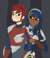 Aerrow and Piper Color by DelpheneLightfoot