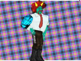 My wrestling revolution character  by laserdogbad