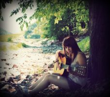 just me and my guitar by Helliew