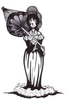 Parasol girl by diffy