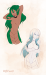Lamia girls by RedBaronessThe3