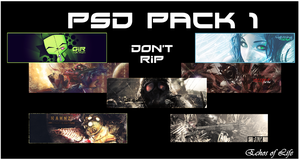 PSD Pack 1 by echosoflife