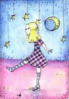 ACEO ATC Dancing on water by ACatCalledMegan