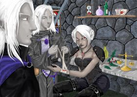 Drow - Shek'Tar and Ankh'ila by Neferu