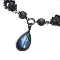 Steampunk labradorite necklace by CatherinetteRings