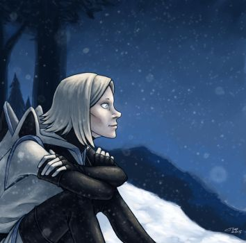 Lalli in the Snow by Starfallz