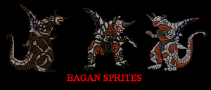 A trio of Bagans by bagan-x-godzilla
