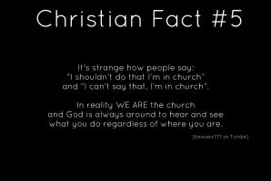 Christian fact 5 by StandAndStare