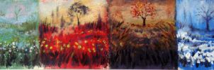 A Field Of Four Seasons by astarvinartist