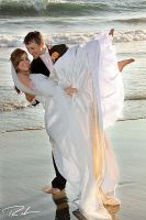 Beach Wedding 2 by Merlinstouch
