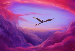HtTYD2 - Flight by Cloudghost