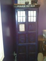 Tardis Recycled computer nook! by ArtisinmyHeart
